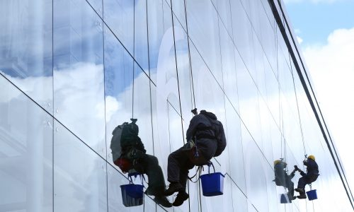 High altitude washers hanging on a rope